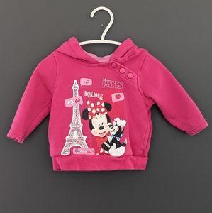 Disneyland Paris dark pink Minnie Mouse hoodie